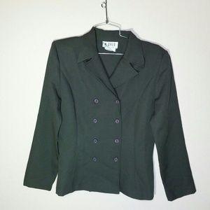 Vtg 70s Green Blazer
